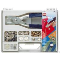 Prym 651420 Набор со стандартным ассортиментом кнопок и щипцов для крепления кнопок