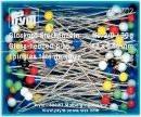 Prym Булавки со стеклянной головкой (сталь) 2/0 серебр. цв., разноцветные 0,80*48 мм Булавки со стеклянной головкой (сталь) 2/0 серебр. цв., разноцветные 0,80*48 мм