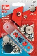 Prym Кнопки 'Анорак' с дизайном (латунь),  дизайн Плоский  цв. черный, матовый 17 мм Кнопки 'Анорак' с дизайном (латунь),  дизайн Плоский  цв. черный, матовый 17 мм