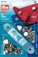 Prym Кнопки 'Мини'  (латунь) серебристый цв. 8 мм Кнопки 'Мини'  (латунь) серебристый цв. 8 мм