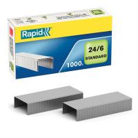 """RAPID 24855600 Скобы для степлера RAPID """"Standard"""", №24/6, 1000 штук, до 20 листов, 24855600"""