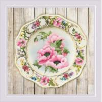 Риолис 0075 РТ Тарелка с розовыми маками