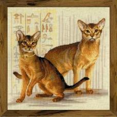Набор для вышивания 1671 Абиссинские кошки