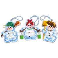 Риолис 1681АС Новогодние игрушки «Снеговички»