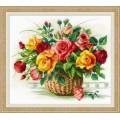 Риолис 1722 Корзина с розами