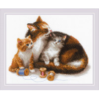 Риолис 1811 Кошка с котятами