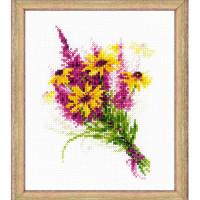 Риолис 497166 1577 Набор для вышивания Riolis 'Букетик с рудбекией', 15*18 см