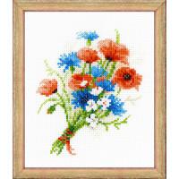 Риолис 497167 1576 Набор для вышивания Riolis 'Букетик с васильками', 15*18 см