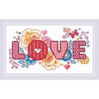 Риолис 559710 1853 Набор для вышивания Риолис 'Love'18*10см