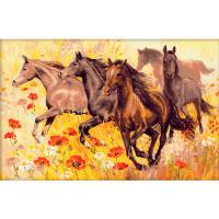 Риолис 641417 1064 Набор для вышивания Riolis 'Табун лошадей', 60*40 см