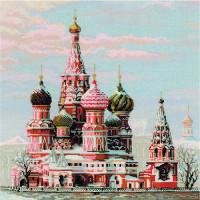 Риолис 641687 1260 Набор для вышивания Riolis 'Москва. Собор Василия Блаженного', 40*40 см