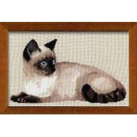 Риолис Набор для вышивания Набор для вышивания «Сотвори Сама» 1066 Тайская кошка,38х26 см
