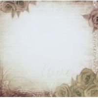 "Рукоделие 210950-001-04 Бумага ""Artie Vintage Rose"" (глиттер)"