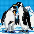 Рукоделие AZM2020/J-003 Семья пингвинов
