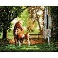Рукоделие AZM4050/J-003 Лошадь с жеребёнком