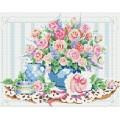 Рукоделие AZM4050/Z-005 Розовый натюрморт