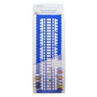 """Рукоделие CET-02 Органайзер  для ниток мулине """"Рукоделие"""" CET-02 пластик 27.5*10,5*2,5 см Цвет синий"""