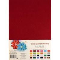 Рукоделие FLT-S1-02 Фетр декоративный (темно-красный)