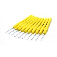 Рукоделие KAO(S)/2.5 Крючок KAO(S)/2.5 вязальный односторонний алюминиевый с силиконовой ручкой 2,5мм