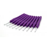 Рукоделие KAO(S)/4.0 Крючок KAO(S)/4.0 вязальный односторонний алюминиевый с силиконовой ручкой 4,0мм