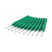 Рукоделие KAO(S)/4.5 Крючок KAO(S)/4.5 вязальный односторонний алюминиевый с силиконовой ручкой 4,5мм