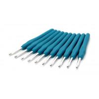 Рукоделие KAO(S)/5.0 Крючок KAO(S)/5.0 вязальный односторонний алюминиевый с силиконовой ручкой 5,0мм