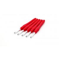 Рукоделие KAO(S)/6.0 Крючок KAO(S)/6.0 вязальный односторонний алюминиевый с силиконовой ручкой 6,0мм