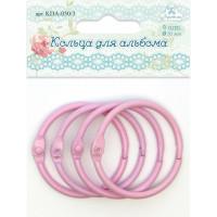Рукоделие KDA-050/3 Кольца для альбома, цвет - розовый