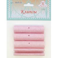 Рукоделие ККЛ-03 Клипсы для пялец РУКОДЕЛИЕ, 4 шт, цвет розовый мрамор