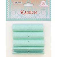 Рукоделие ККЛ-04 Клипсы для пялец РУКОДЕЛИЕ, 4 шт, цвет бирюзовый мрамор