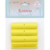 Рукоделие ККЛ-05 Клипсы для пялец РУКОДЕЛИЕ, 4 шт, цвет жёлтый
