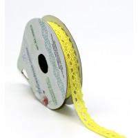 Рукоделие KL-0301/5_1 Кружевная лента «Рукоделие» KL-0301/5 10мм х 3м (цвет: желтый)