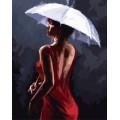 Рукоделие RN4050/L-005 Девушка в красном платье