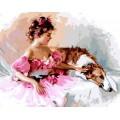 Рукоделие RN4050/L-006 Девочка с собакой