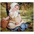 Русская сказка А-1305 Девочка с корзиной яблок