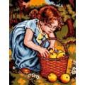 Русская сказка А-1351 Девочка с яблоками