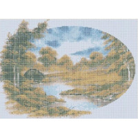 Русская сказка БП-П-004 Осень/Озеро, 33х45 см - 9 цветов
