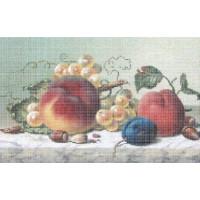 Русская сказка ЧБ-Н-022 Персики и виноград, 33х45 см - 12 цветов
