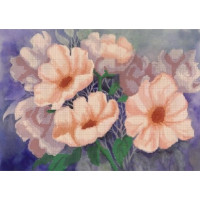 Русская сказка ЧБ-Ц-009 Белые цветы, 33х45 см - 10 цветов