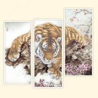 Русская сказка КМН-049 Тигр (модульная картина - 3 шт)