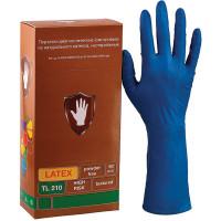 SAFE&CARE ТL 210 Перчатки латексные смотровые КОМПЛЕКТ 25 пар (50 шт.), повышенной прочности, удлиненные, размер M(средний), синие, SAFE&CARE High Risk TL210, ТL 210
