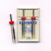Schmetz Иглы двойные SCHMETZ 130/705H ZWIHO 100, для мережки Иглы SCHMETZ 130/705H ZWIHO 100, двойные, для мережки, 2 шт.