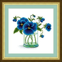 Сделано с любовью 00000032543 Набор для вышивания «Сделано с любовью» ЦВ-035 Синие глазки лета