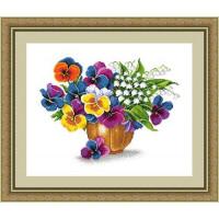 Сделано с любовью 00000037028 Набор для вышивания «Сделано с любовью» ЦВ-047 Майское разноцветие