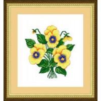 Сделано с любовью 001 Набор для вышивания «Сделано с любовью» ЦВ-001 Желтые анютки