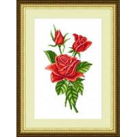 Сделано с любовью 007 Набор для вышивания «Сделано с любовью» ЦВ-007 Букет красных роз