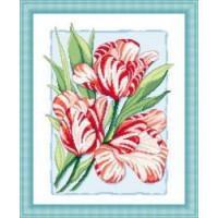 Сделано с любовью 019 Набор для вышивания «Сделано с любовью» ЦВ-019 Пестрые тюльпаны