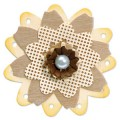 SIZZIX 657110 Форма для вырубки Трио из цветочков Bigz Die