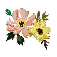 "SIZZIX 665209 ""Sizzix"" 665209 Ножи для вырубки 7 шт. Нарисованные мазками кистью цветы №1/ Brushstroke Flowers 1 by Tim Holtz"