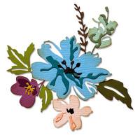 "SIZZIX 665210 ""Sizzix"" 665210 Ножи для вырубки 8 шт. Нарисованные мазками кистью цветы №2/ Brushstroke Flowers 2 by Tim Holtz"